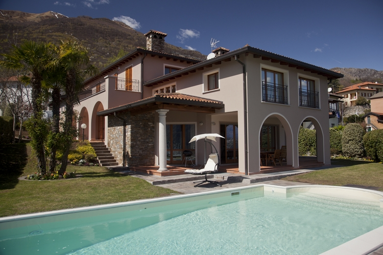 Comer See Cremia Luxus Villa mit Seeblick