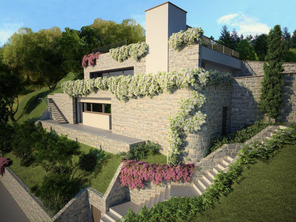 Comer See Menaggio Luxus-Villa mit Pool in Residence