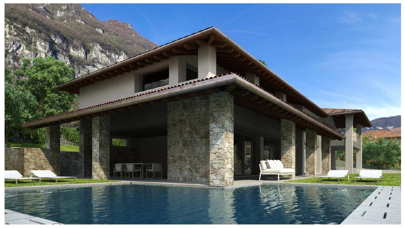 Comer See Tremezzo Villa mit Schwimmbad