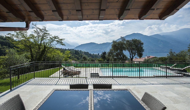 Terrasse - Comer See Tremezzo freistehende Villa mit Schwimmbad, Garten und Seeblick