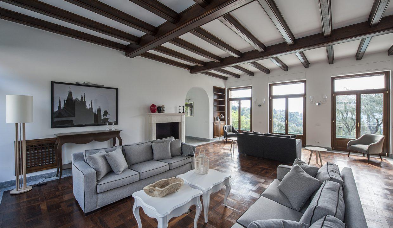 Comer See Tremezzo freistehende Villa - Wohnzimmer