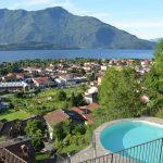 Domaso Wohnung mit Schwimmbad und Seeblick solarium