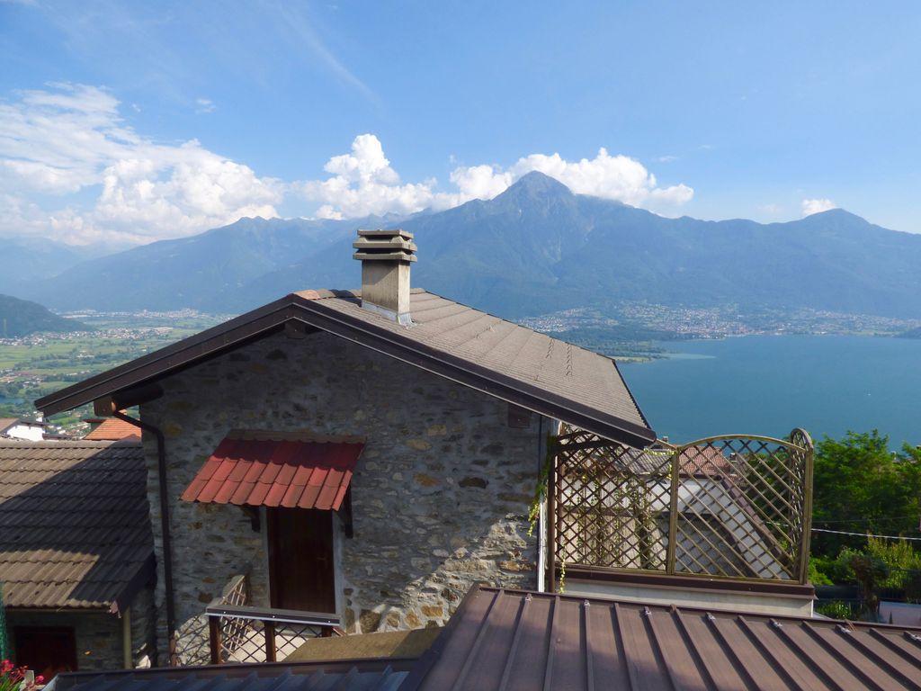 Comer See Gera Lario Sonnig Haus mit Seeblick