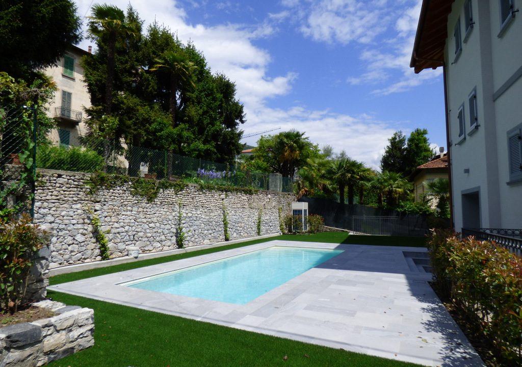 Comer See Mezzegra Wohnungen mit Schwimmbad