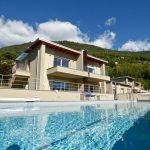 Comer See Gera Lario Wohnung Moderner Residenz mit Pool mit garage