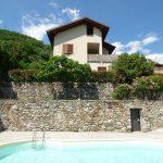 Comer See Sorico Wohnung Residenz mit Schwimmbad sonnig