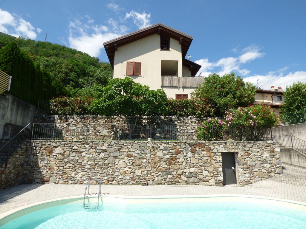 Comer See Sorico Wohnung Residenz mit Schwimmbad
