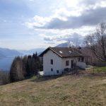Comer See Gravedona und Uniti Hügelig Haus mit Seeblick terrasse