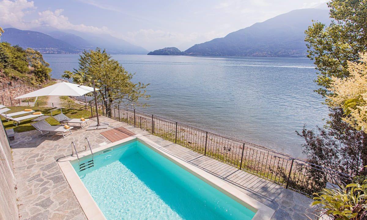 Comer See Pianello del Lario Villa Direkt am See - schwimmbad