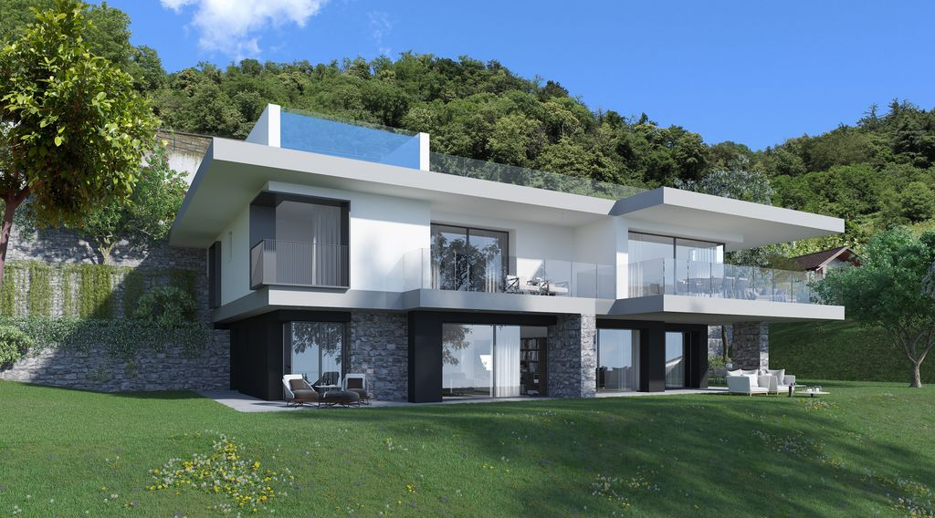 Comer See Domaso Moderne Wohnung mit Seeblick