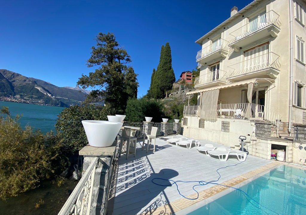 Comer See Dervio Villa Direkt am See - shwimmbad