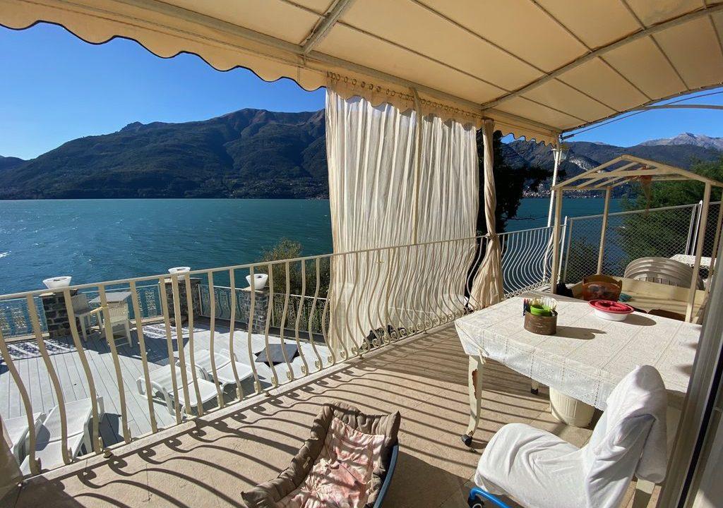 Comer See Dervio Villa Direkt am See - terrasse