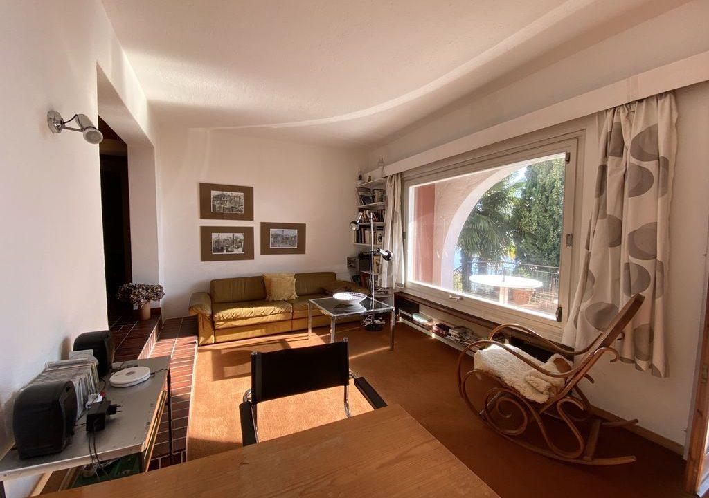 Comer See Domaso Wohnung mit Schwimmbad und Seeblick - soggiorno