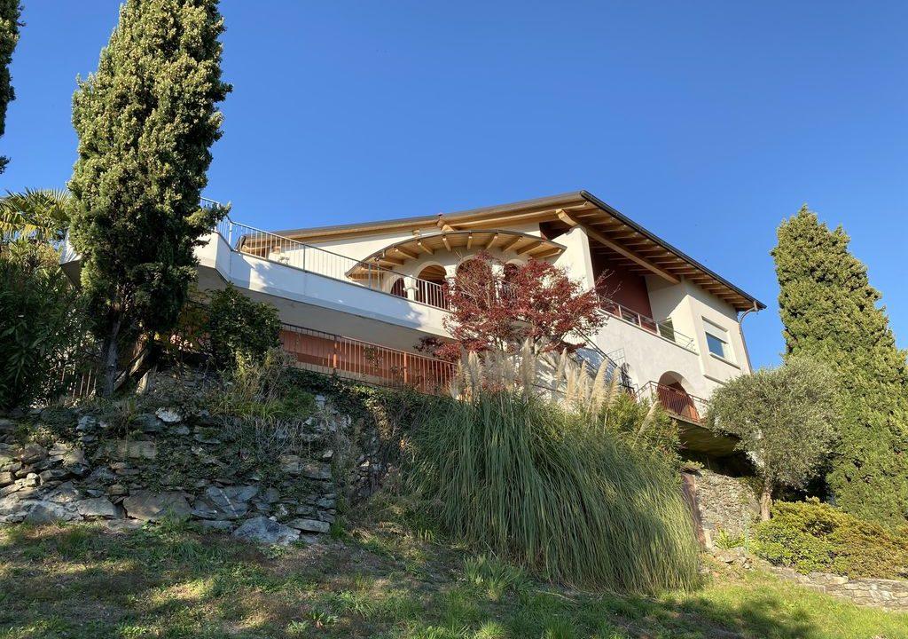 Comer See Domaso Wohnung mit Schwimmbad und Seeblick - sonnig