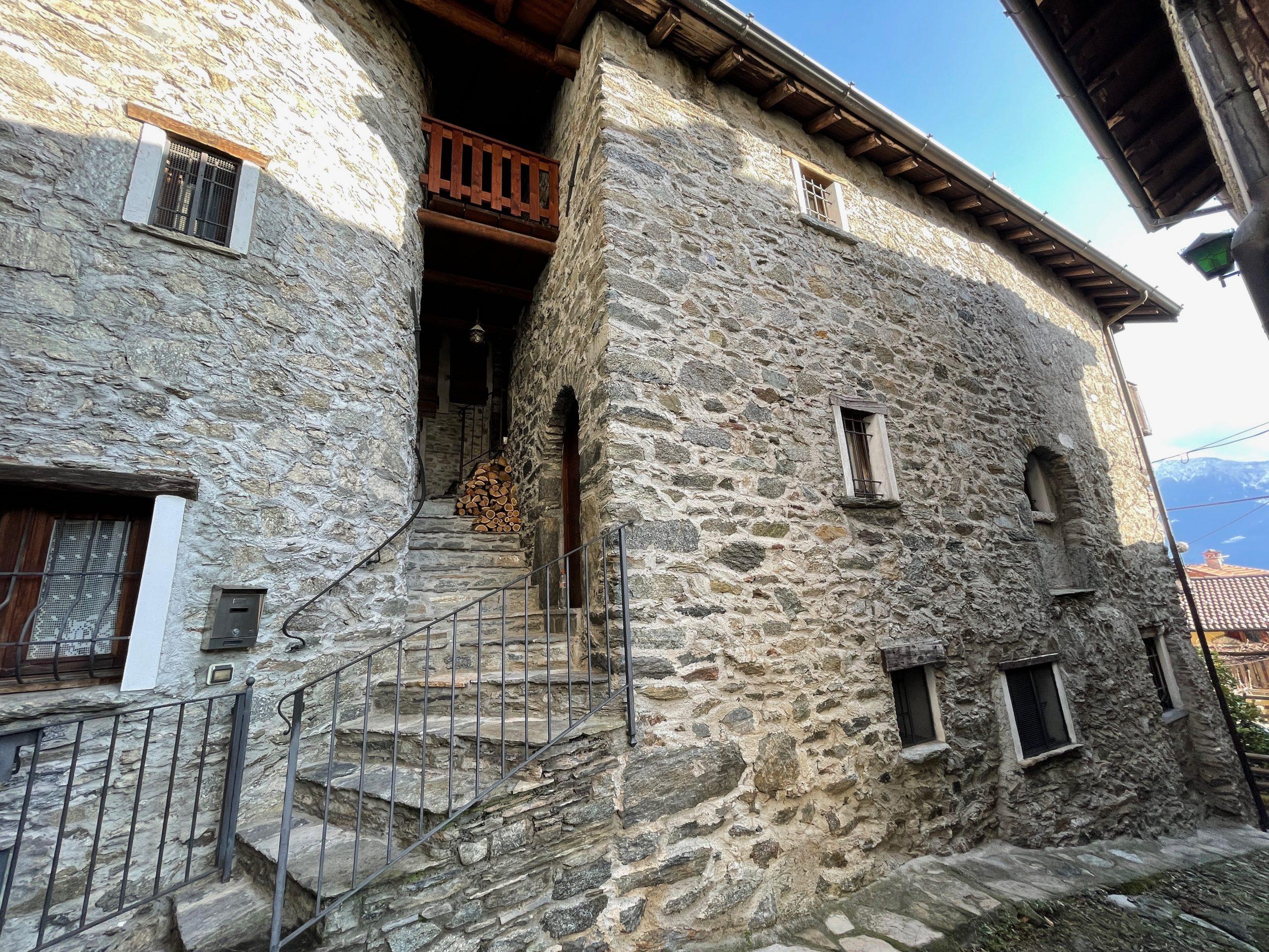 Comer See Domaso Hügelig Renoviert SteinHaus - balkon